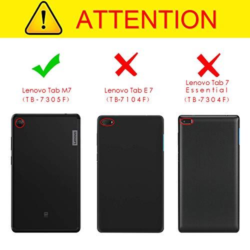 Fintie Hülle für Lenovo Tab M7 / M7 (2nd Gen) 7.0 Zoll, Ultradünne Superleicht Flip Tasche mit Ständer Funktion und magnetischer Abdeckung für Lenovo Tab M7 TB-7305F / TB-7305X 2019, Schwarz
