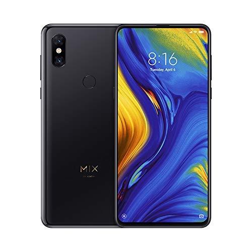 "Xiaomi Mi Mix 3 - Smartphone de AMOLED de 6,39"" (4G, Octa Core Qualcomm Snapdragon 845 2.8 GHz, 6GB RAM, 128 GB ROM, Cámara Dual de 12+12 MP, Android) Color Negro ónix [Versión española]"