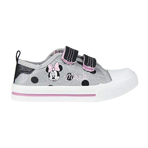 Cerdá Bambas Minnie Mouse Niña Color Plateado, Zapatillas
