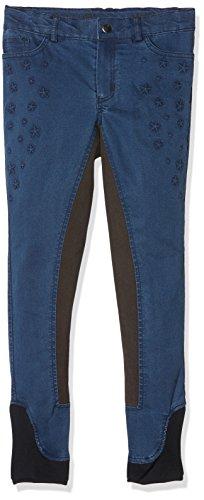 Bibi & Tina Damen Jeans-Reithose-Girls vs. Boys Stars, Jeansblau, 134