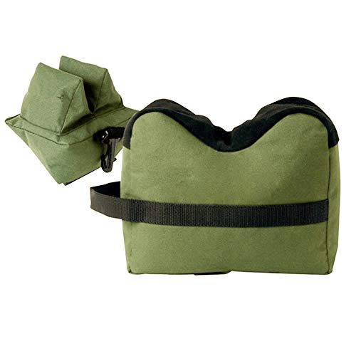 MANFORD Shooting Rest Bag Front & Rear Combo Support SandBag Rifle Universal Gun Sighting for Outdoor Hunting, Unfilled
