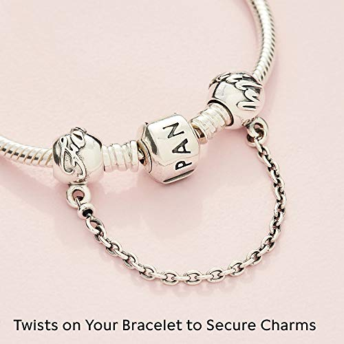 Jewelry Family Forever Safety Chain Sterling Silver Charm