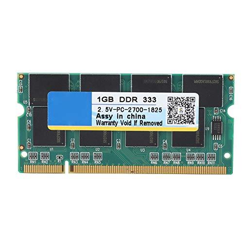 Tonysa 1G 333MHz DDR Speicher RAM für PC-2700 Laptop Notebook, 2.5V 200PIN schneller Datentransfer Memory Stick RAM für Intel/AMD