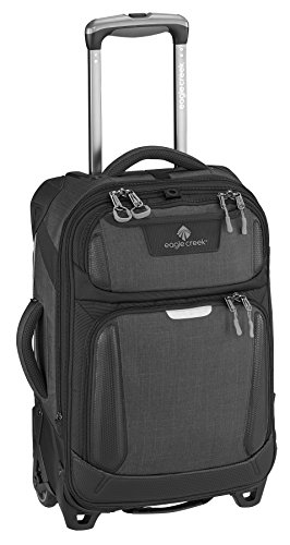 Eagle Creek Erweiterbarer Trolley Tarmac International Carry-On Handgepäck Koffer mit 17 Zoll Laptop-Fach, 55 cm, 36 L, Asphalt schwarz