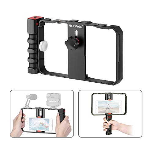 Neewer Smartphone Camera Stabilizer Video Rig, Filmmaking Case, Phone Video Stabilizer Grip Tripod...