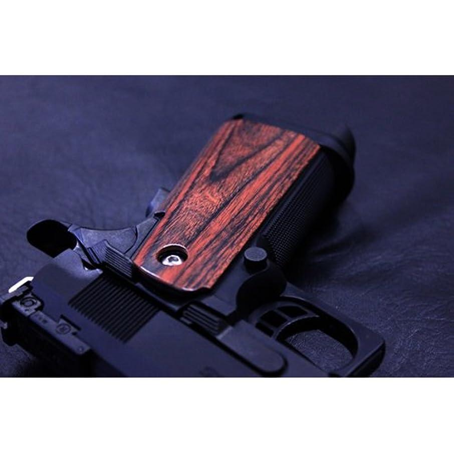 無しショッキングパーチナシティ木製グリップ 東京マルイ ハイキャパ/Hi-Capa/5.1/4.3 用(スムース 樺材)|AWG-401