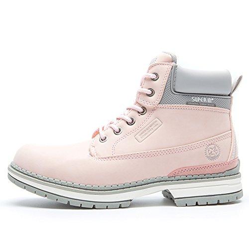 Botines Planos de Spring para Mujer - AnjouFemme Zapatos con Cordones para Mujer, Botas Impermeables Cómodas, la Mejor Elección para Caminar, Hacer Senderismo y para el Día a Día