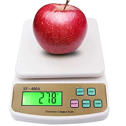 ORZIX Kitchen Weighing Scale with Tare Function SF 400A with Adaptor 10 kg Digital Multi-Purpose Food Weight Machine