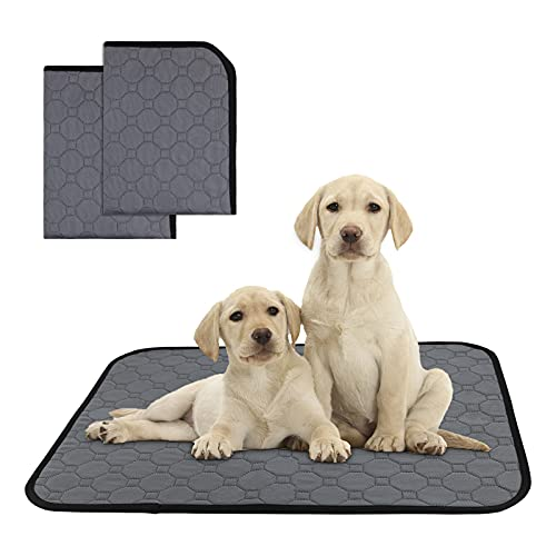 LMTIC Small Dog Pee Pads 2 Pack,Whelping Pads Waterproof and Small Washable Pee Pads for Dogs,Resuable Dog Pads Training for Puppies,Non-Slip Pee Mat for Dogs and Cats