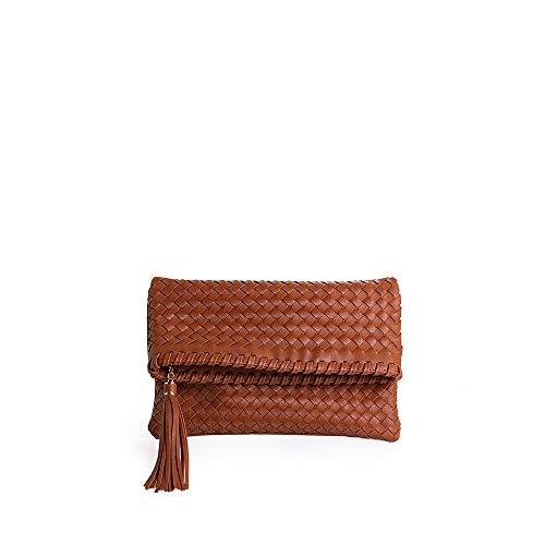 PACO MARTINEZ | Bolso sobre Trenzado Color marrón | 19x28x1,5 | Pequeño
