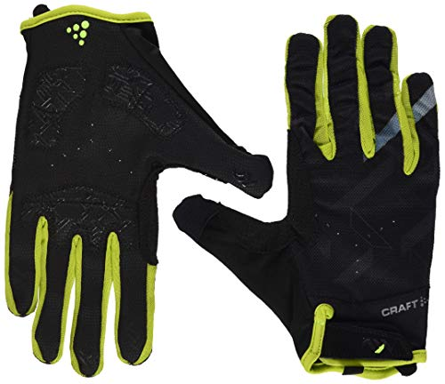 Craft PINONEER Gel Glove bl Radhandschuh, Black/Lime, 12/2XL