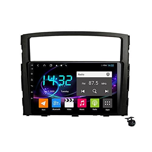 Sat Nav Android 10.0 Radio estéreo para Mitsubishi Pajero 2006-2014 GPS Navigation 9 '' Headunit MP5 Multimedia Video Player Receptor con 4G 5G WiFi SWC Carplay,4core 4g wifi 2+32gb