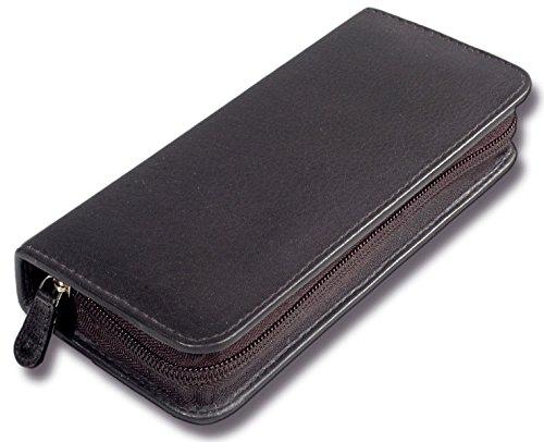 Taschenapotheke Homöopathie für 30 Gläser feines Rindnappa-Leder schwarz