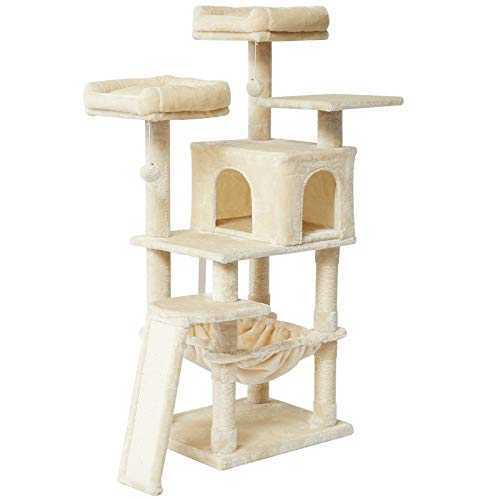 IBUYKE Árbol para Gato 137cm Torre de Escalada de Varios Niveles con...