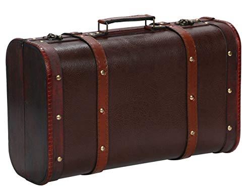 r_planning アンティーク調 収納 ボックス レトロ ビンテージ風 スーツケース ブラウン