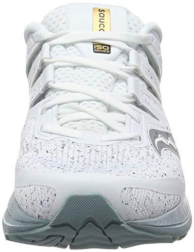 Saucony Ride ISO, Zapatillas de Running Hombre, Blanco (White 40), 45 EU