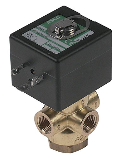 """Henkelman Polar2-85 - Válvula magnética para envasadora al vacío (Polar2-75, Polar2-95, Polar52, latón, 24 V, 3 vías, DN 4,4, conector 1/4"""", 3 bar)"""