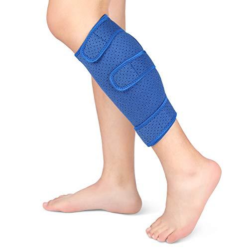 Wadenbandage, Kompressions-Schienbeinschiene, verstellbare Wadenbandage für gerissene Waden, Schwellungen, Verstauchungen, Prellungen