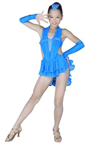 Colorfulworldstore Tanzkleid für lateinamerikanische Tänze in Damen-und Mädchengrößen Kleid mit 2 Teilen in 3 Farben erhältlich