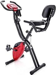 YL-Life - Bicicleta estática magnética plegable con sistema de entrenamiento y bandas elásticas para Cardio Workout Indoor Cycling ZDC-002
