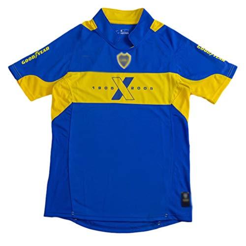 AWJK 2005 Boca Maradona Nr. 10 Home Memorative Kurzarm Argentinische Liga Retro Trikot XXL