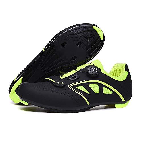 WWSUNNY Zapatillas de Bicicleta de Montaña,,Calzado de Bicicleta, Zapatos de Bicicleta Antideslizantes...