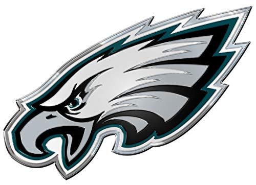FANMATS Philadelphia Eagles Heavy Duty Aluminum Color Emblem, Team Color
