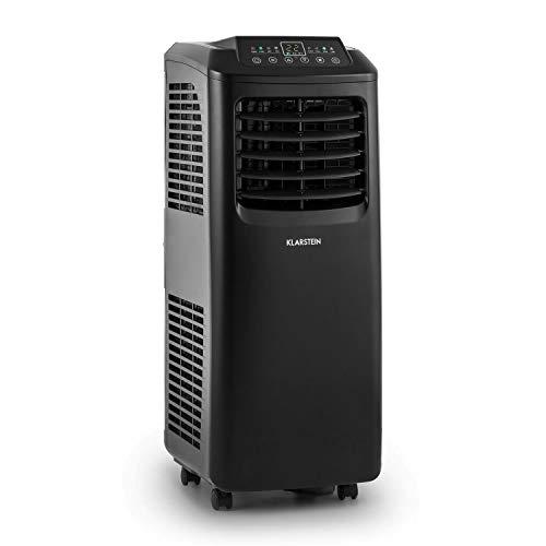 Klarstein Pure Blizzard 3 2 G Portable Air Conditioner - 808 W RMS, Low Power Consumption, Class A, Remote Control, Auto Dehumidifier, Quiet Fan, Timer, Flexible Exhaust Pipe - Graphite Black