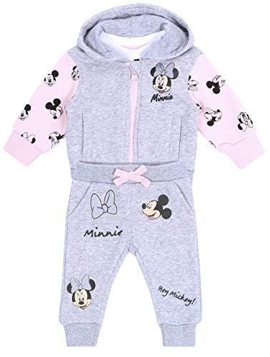 -:- Minnie Mouse -:- Disney -:- Survêtement Gris-Rose 12-18 Mois