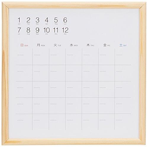 ナカバヤシ ウッドずっとカレンダー ホワイトボードカレンダー 20×20cm CLBM-2020