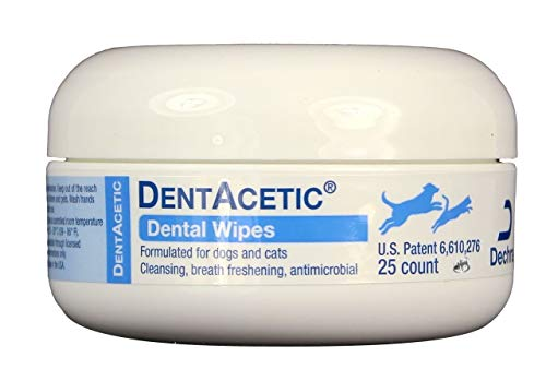 Dechra 25 Count Dentacetic Dental Wipes