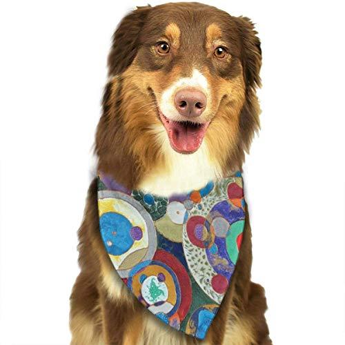 HomeLEE honden katten huisdieren dieren Bandanas, aquarel citroen fruit tak bladeren patroon, driehoek verjaardag Bandana sjaals hals sjaal mode zakdoeken sjaals halsdoek pak voor honden katten huisdieren, Eén maat, Watercolor Palm Leaf
