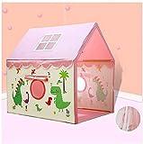 Spielzelte Tipi-Zelt-Kinder nach Hause Dinosaurier Kindern Tent Indoor Prinzessin Girl Game House Jungen-Baby-Kinderbett Schlaf Haus faltbarer Aufbewahrungs (Farbe: Blau, Größe: 100 * 125 * 135 cm) Ji