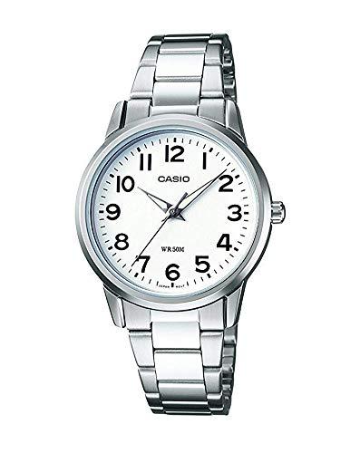 Casio Reloj Analógico para Mujer de Cuarzo con Correa en Acero Inoxidable LTP-1303PD-7BVEF