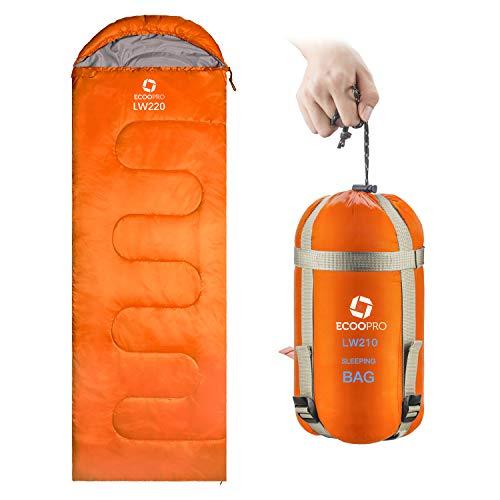 ECOOPRO Warm Weather Sleeping Bag - Portable, Waterproof, Compact Lightweight, Comfort with...