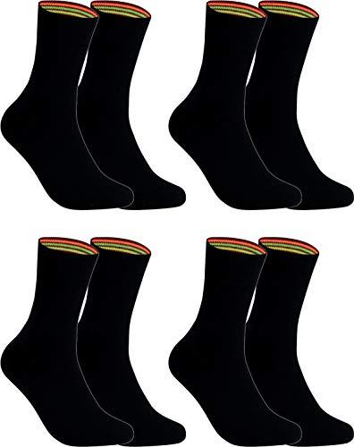 gigando Socken Herren schwarz Baumwolle 4er Pack in Premiumqualität ohne Naht am Zeh und atmungsaktiv - Strümpfe für Anzug, 43-46, 4 Paar - Schwarz