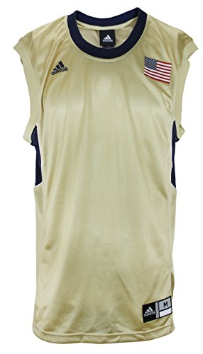 adidas Men's Blank Basketball Jersey with USA Flag, Gold-Navy Pittsburgh Pitts