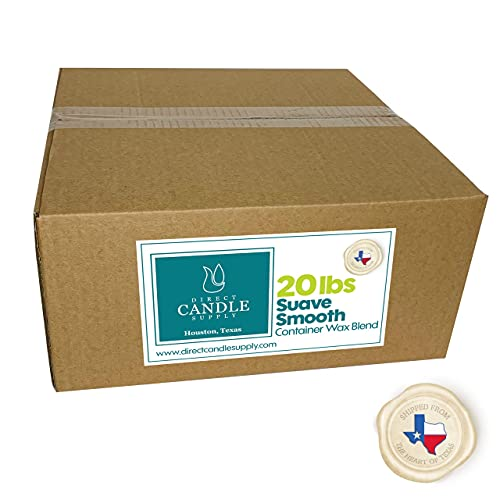 Direct Candle Supply - White Suave Soy Wax Container Blend - 10 & 20 lb - Suave...
