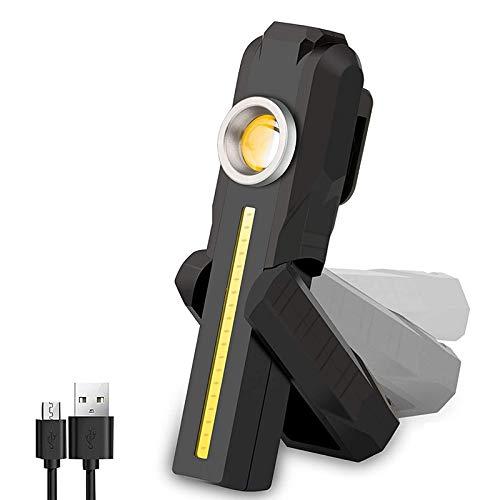 Nrpfell Luces de Trabajo PortáTiles Recargables COB con Base MagnéTica, para ReparacióN de AutomóViles, Camping, Senderismo, Exteriores, Emergencia