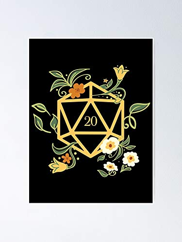 AZSTEEL Plant Lovers Polyhedral D20 Dice Tabletop RPG Poster
