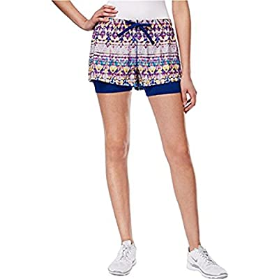 Jessica Simpson Womens The Warm Up Athletic Workout Shorts, Blue, Large