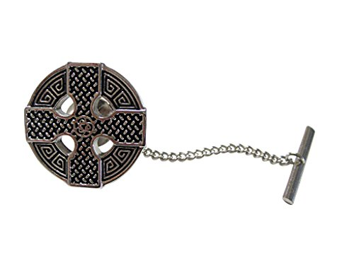Round Celtic Cross Design Tie Tack