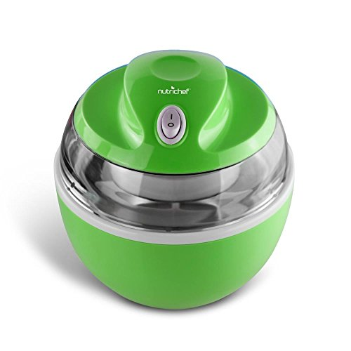 NutriChef Latest Electric Ice Cream Maker Machine - Heavy Duty Mixing Blade w/Removable Freeze Safe Bowl for Automatic Healthy Homemade Gelato Frozen Yogurt Sorbet for All Ages