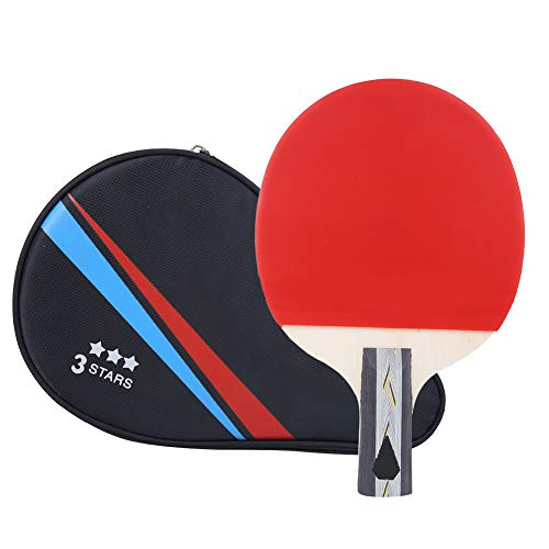 Best Prices! Short Handle Table Tennis Racket, Premium Quality Rubber + Wood Professional Design Pin...