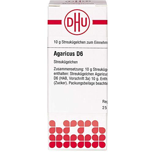DHU Agaricus D6 Streukügelchen, 10 g Globuli