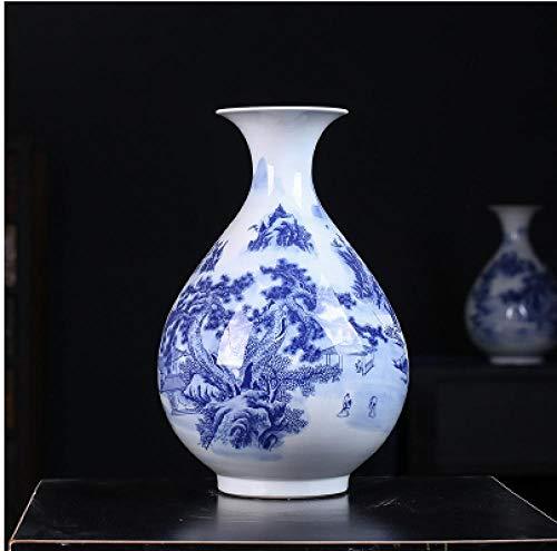 Jingdezhen Keramische vaas Nieuwe Chinese Antieke Blauw en Wit Porselein Thuis Woonkamer TV Kast Decoratie Bloem Arrangement Porselein Decoratie