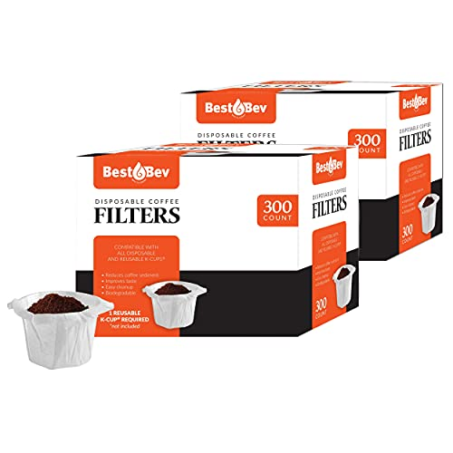 Brew Addicts Disposable K-Cup Paper Coffee Filters and Disposable Coffee Filter for Keurig Single Serve