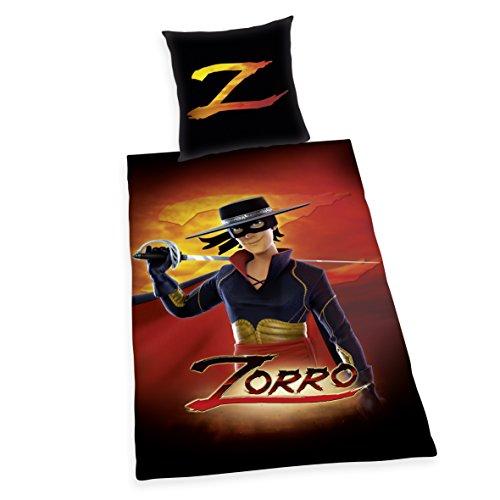 Herding Zorro Parure de lit en Coton, Noir, 135 x 200 cm