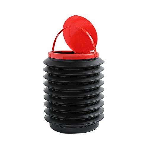 Morechioce - Cubo de basura plegable para coche, extraíble, portátil, impermeable, a prueba de fugas, organizador con tapa telescópica