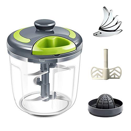 Kitchenaid keukenmachine   voedselmolen - Knoflookpers Gember Knoflookmolen Handmatige voedselhakker voor groente Fruit Noten Uien Hakmolen Handtrekker Vleesmolen Blender Mixer Keukenmachine